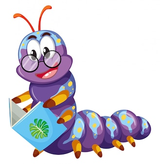紫の毛虫の本を読んで