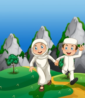 Мусульманин и парк