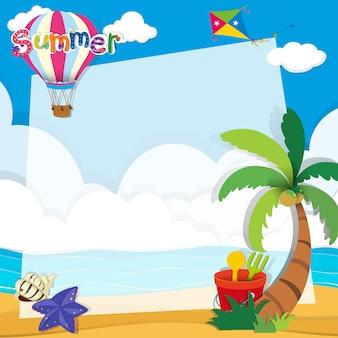 夏をテーマにしたボーダーデザイン