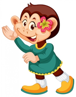 Милый персонаж обезьяны