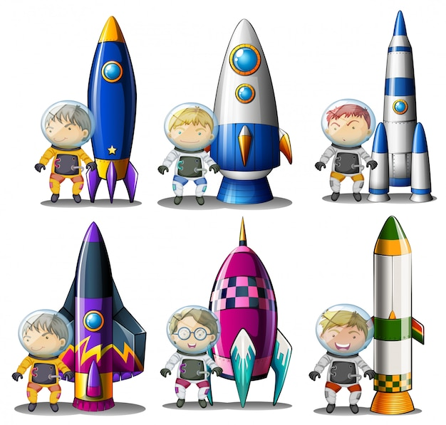 Исследователи рядом с ракетами