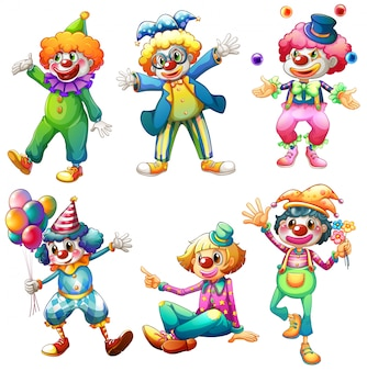 Группа клоунов