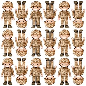 おもちゃの兵士とのシームレスな背景デザイン