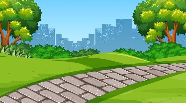 単純な公園のシーン
