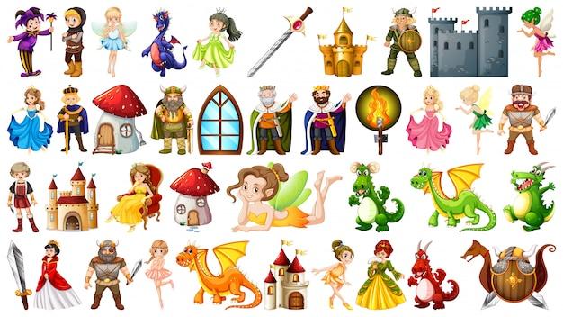 Набор средневекового персонажа