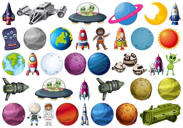 Набор космических элементов