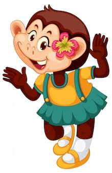 Милый мультфильм характер обезьяны