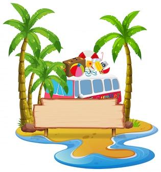 夏のビーチのバナー