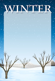 冬をテーマにした国境