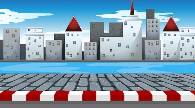 Простая городская сцена