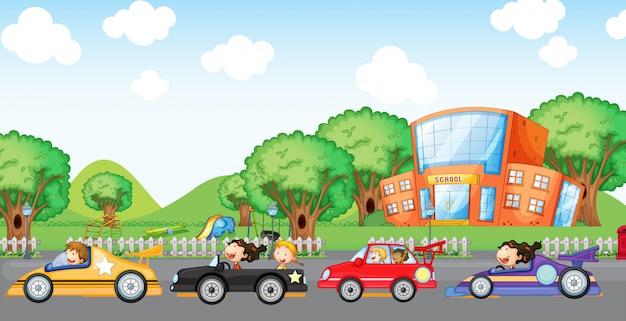 Детские автомобильные гонки