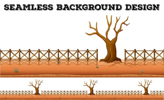 乾燥木とフェンス