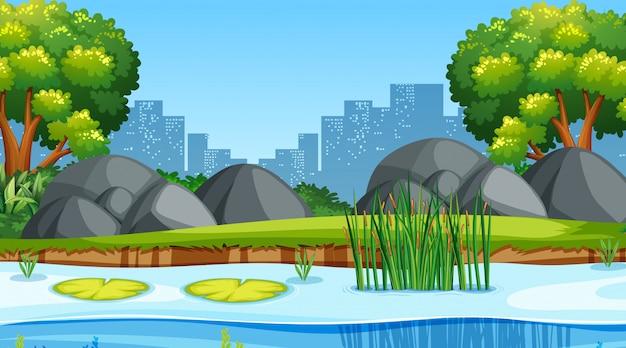 都市景観における公園