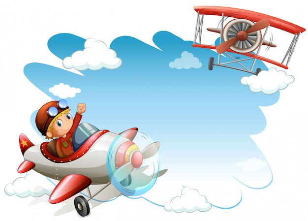 Рамка летающих самолетов