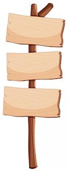 空白の木製看板オブジェクト