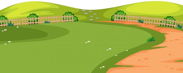 Парк с тропой переднего плана