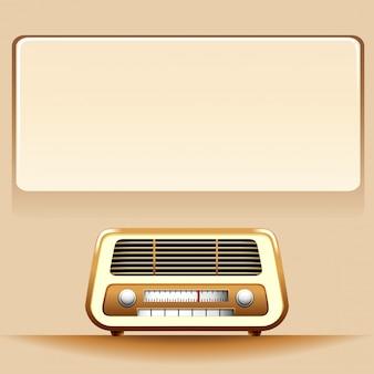 コピースペース付きラジオ
