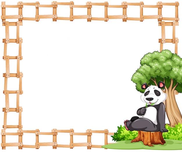 Панда рамка