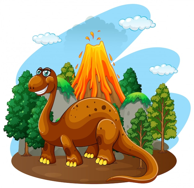 ジャングルの中に住んでいる恐竜