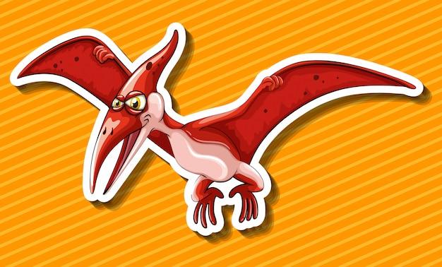 飛んでいる翼を持つ恐竜