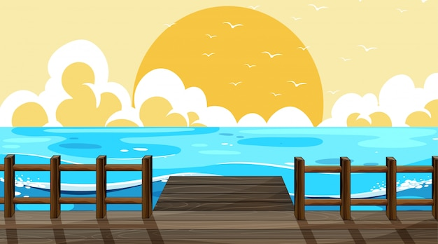 美しいビーチの背景シーン