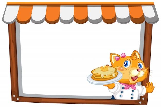 Кот на шаблоне заметки