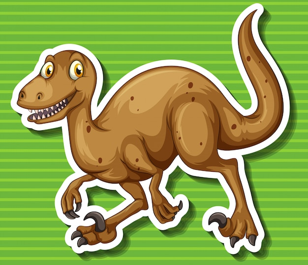 鋭い爪を持つ茶色の恐竜