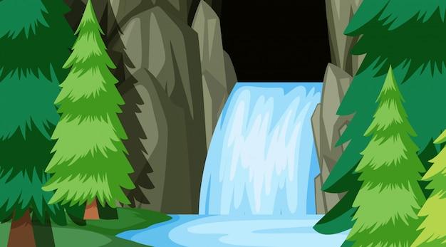 自然シーンの風景テンプレート