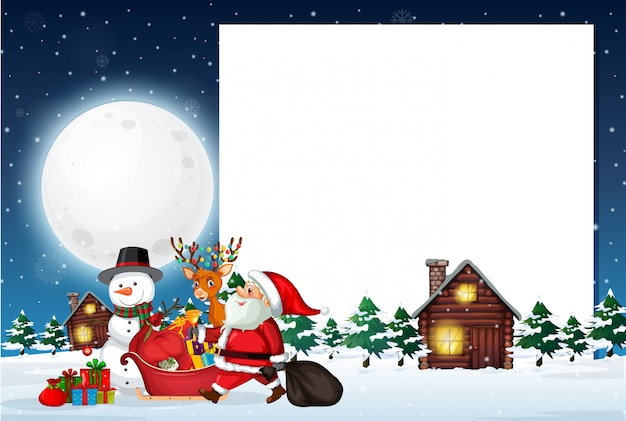 Шаблон рождественской заметки
