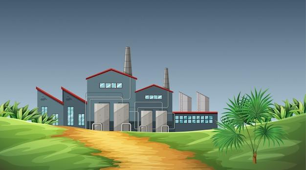 自然の中の工場テーマシーンからの汚染