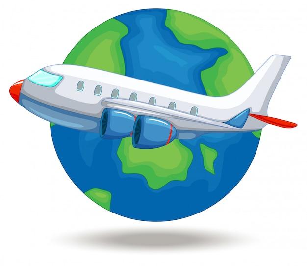 世界中を飛ぶ飛行機