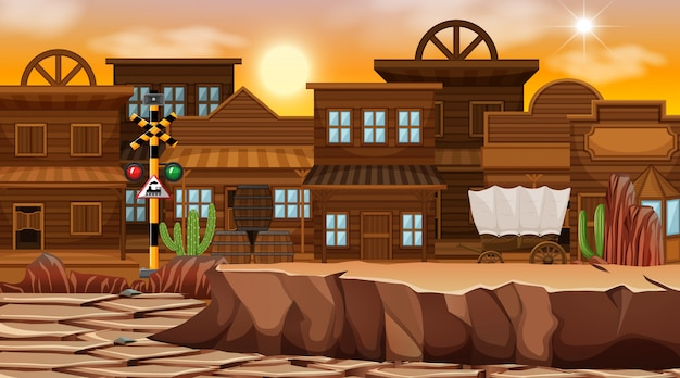 砂漠をテーマにした西部の自然の風景