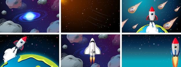 大きな宇宙シーンや背景セット