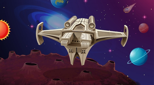 Корабль в солнечной системе