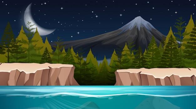 自然環境のシーンや背景の風景