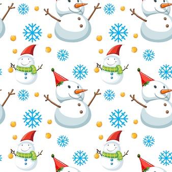 クリスマスをテーマにしたシームレスパターンタイル漫画