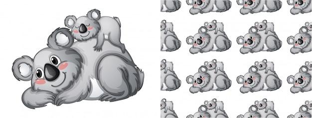 孤立した動物パターン漫画