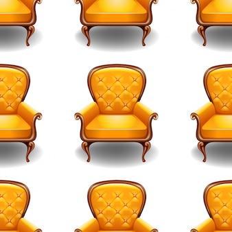 白で隔離される古い椅子