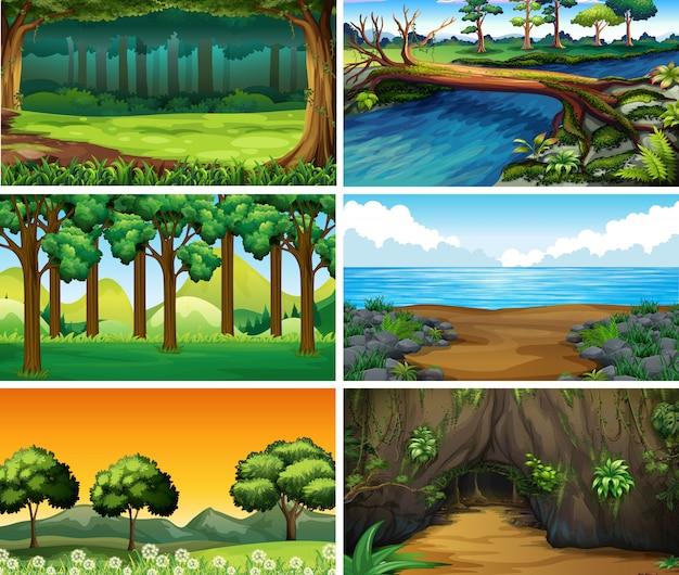 Пустые, пустые пейзажные сцены природы