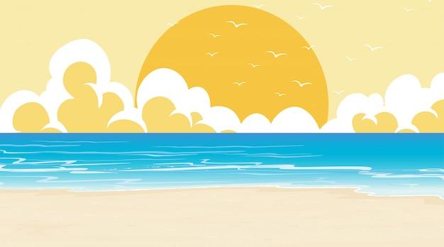 Пустая природа пляж океан прибрежный пейзаж