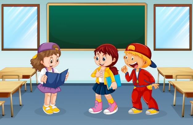 教室の生徒