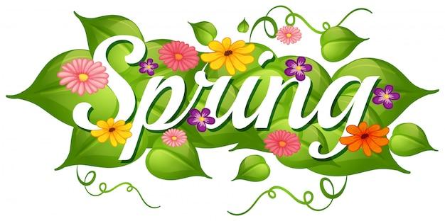 春の自然の花の背景