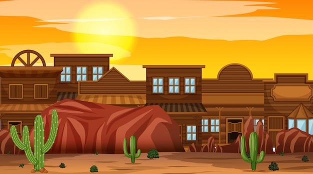 自然の中の西部砂漠をテーマにしたシーン
