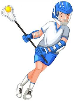 白で隔離されるスポーツ選手