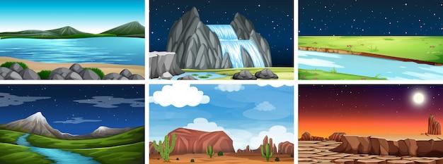 自然環境の風景シーン
