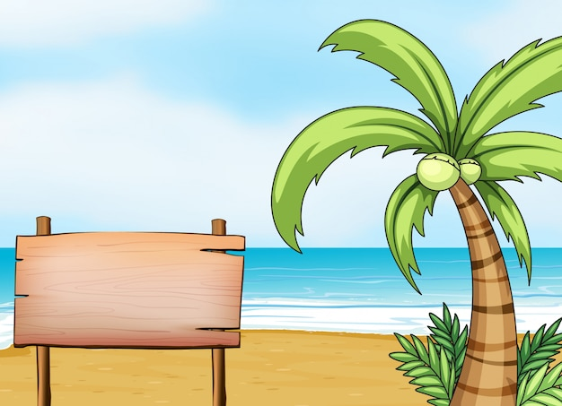 海岸の看板