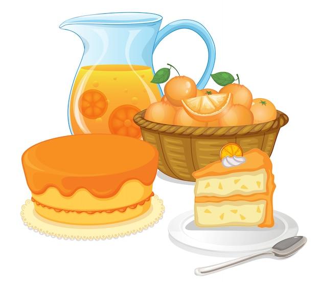 Торты и сокосодержащие напитки