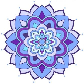 白い背景のマンダラパターン設計