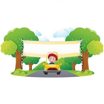 Мальчик в конструкции автомобиля
