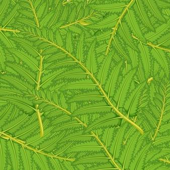 Бесшовные с зелеными листьями